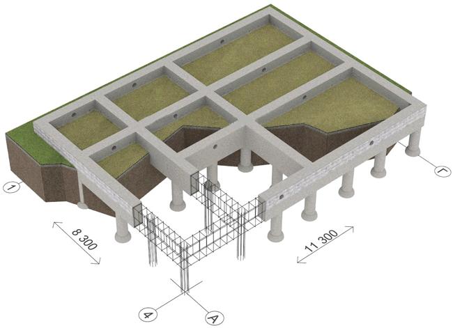 Создание армированного каркаса под столбчатый фундамент