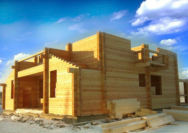 Дом из клееного бруса - строительство