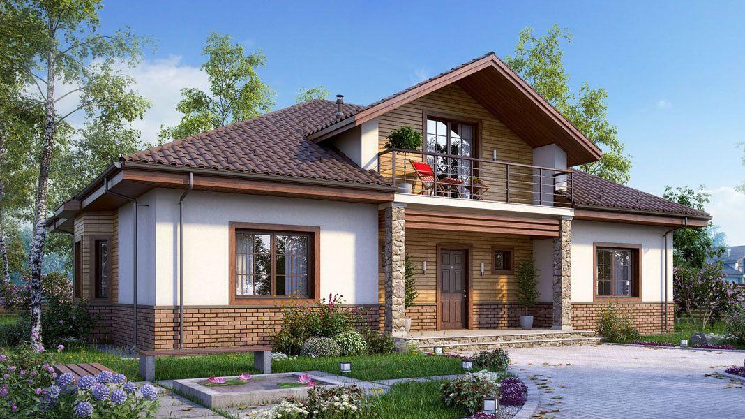 Дом с мансардой - фото