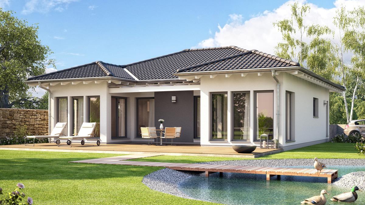Фасад дома с терассой