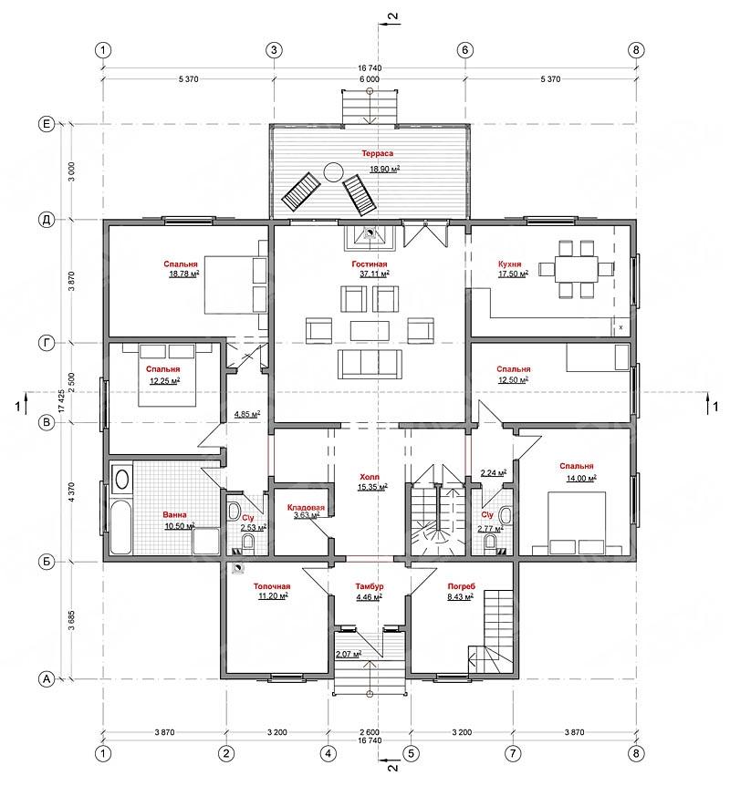 Схема план дома