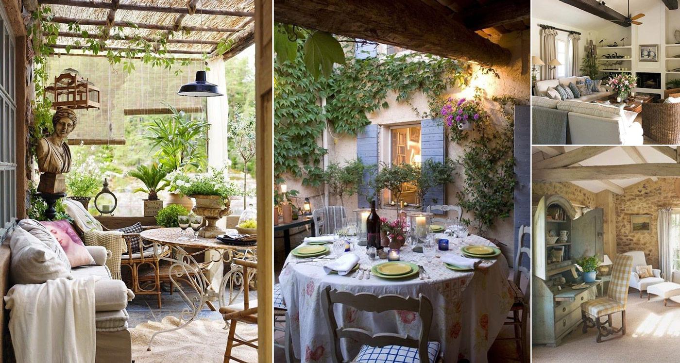Стиль прованс в интерьере загородного дома — фото