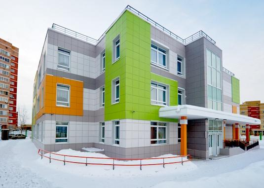 Фасад здания из керамогранита