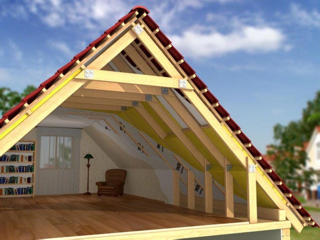 Устройство мансардной крыши