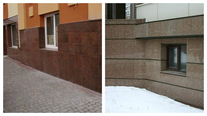 облицовка фундамента жилого дома керамогранитом