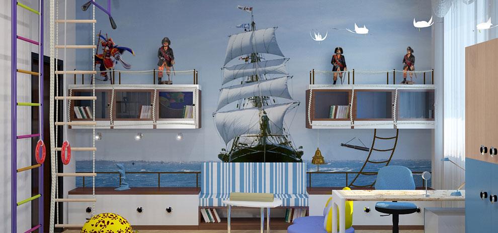 Детские обои на морскую тематтику