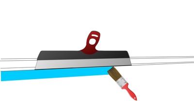 Аккуратная покраска при помощи шпателя