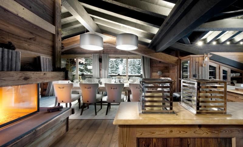 Фото стиля шале в интерьере загородного дома