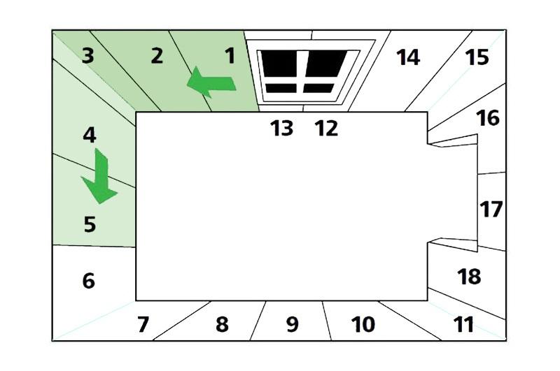 Схема оклейки обоев