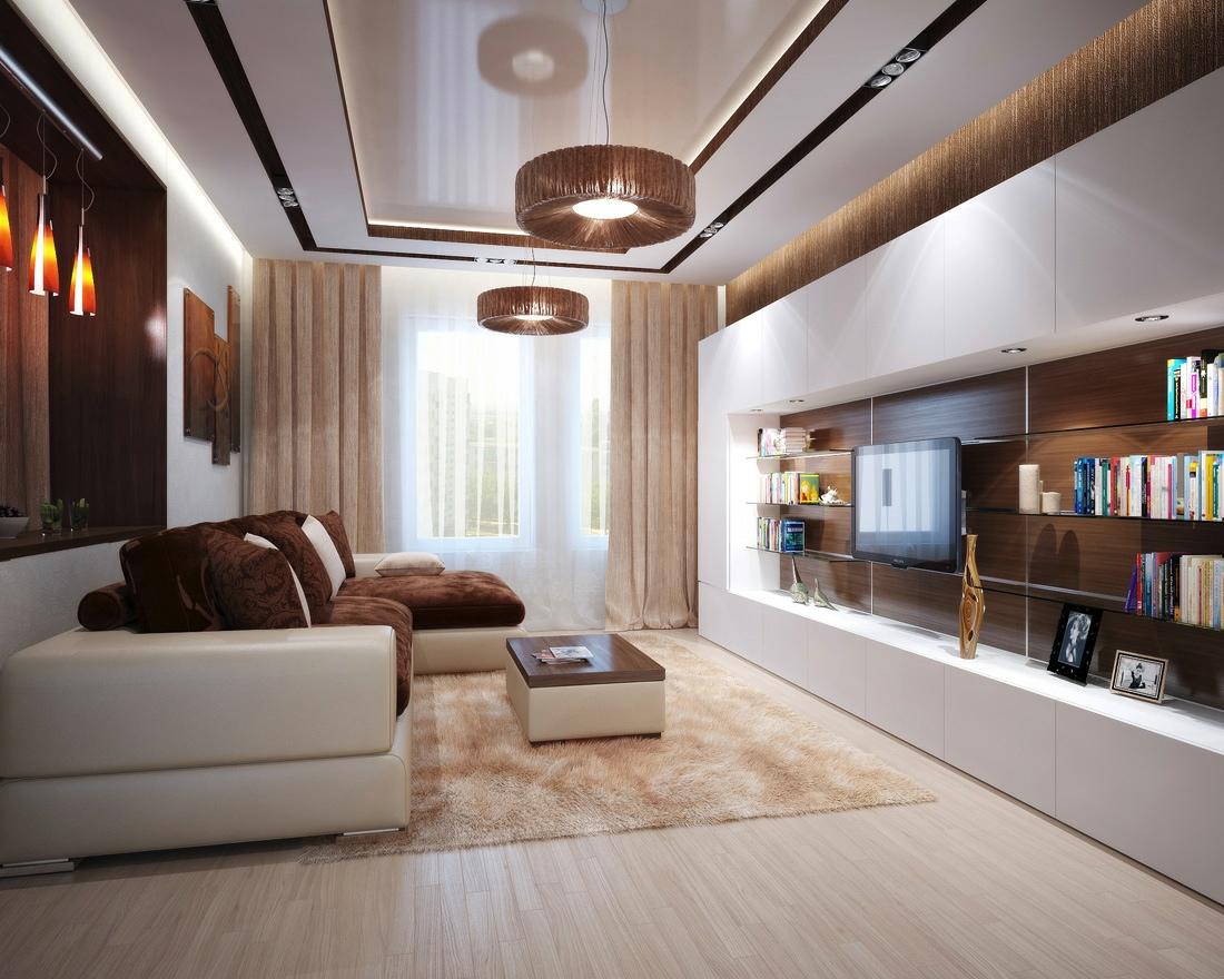 Фото дизайна интерьера гостиной в современном стиле