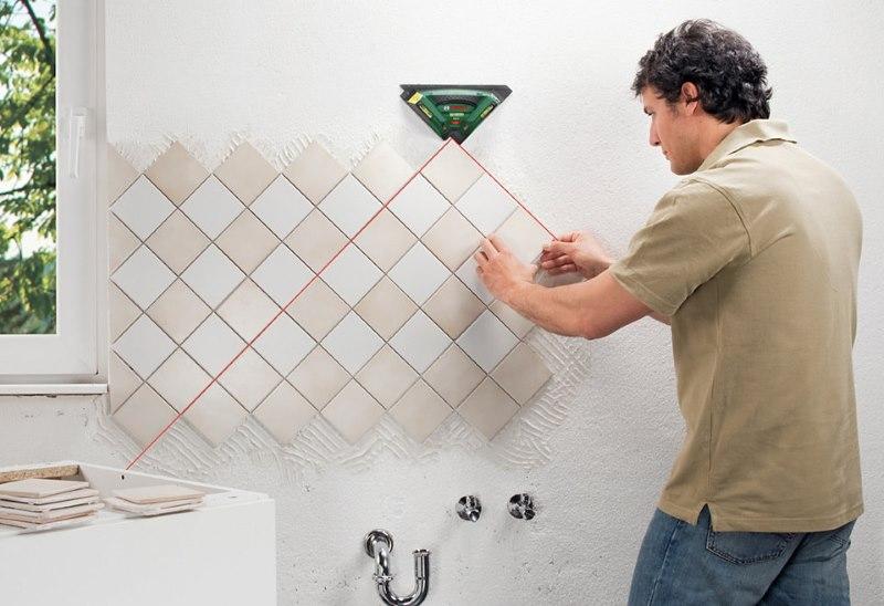 Монтаж керамической плитки