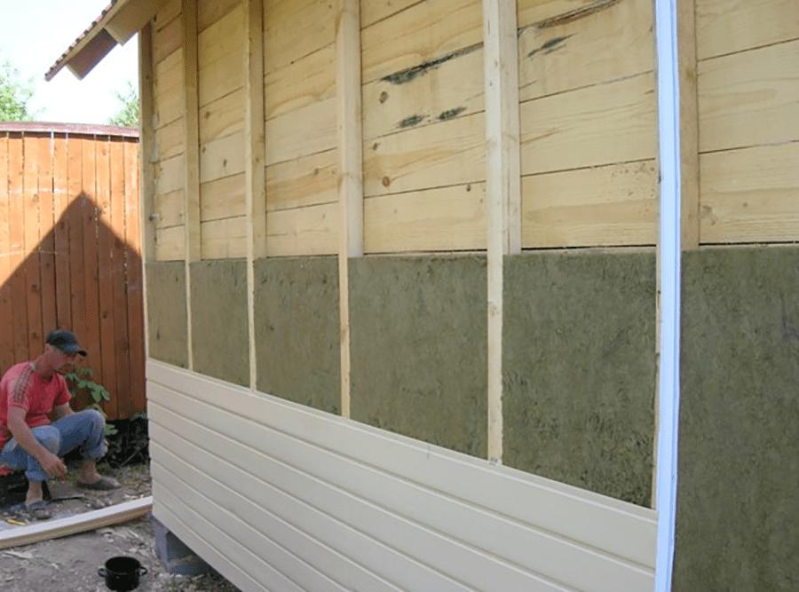 утепление стен дома снаружи минватой под сайдинг