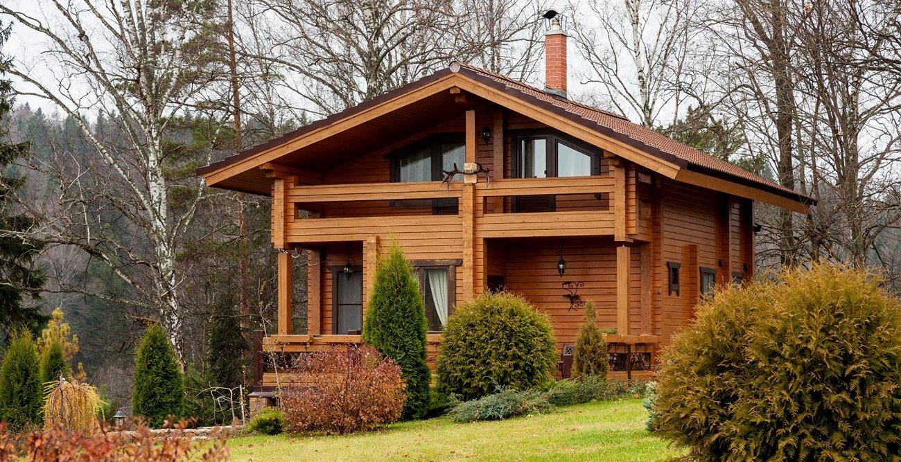 Дома из клееного бруса - фото