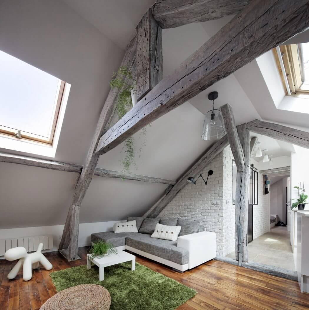 мансарда дизайн в скандинавском стиле