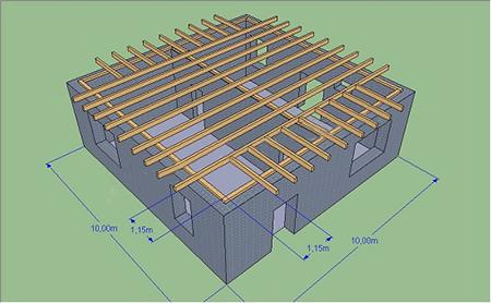 Основание для четырёхскатной крыши