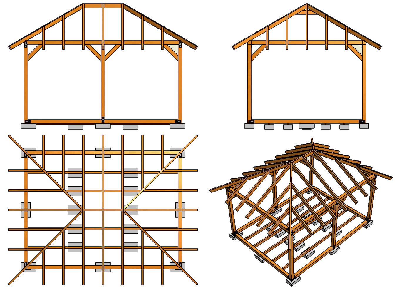 четырёхскатная крыша схема