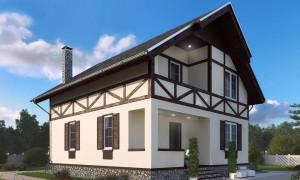 Проект двухэтажного дома 120 кв м с мансардой