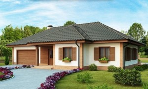Одноэтажный дом площадью 100 кв.м