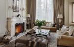 Интерьер гостиной в стиле современная классика