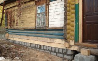 Как самому отремонтировать фундамент старого деревянного дома