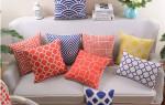 Самодельные декоративные подушки в интерьере
