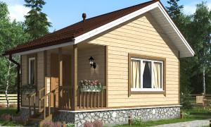 Проект одноэтажного каркасного дома 5 на 4