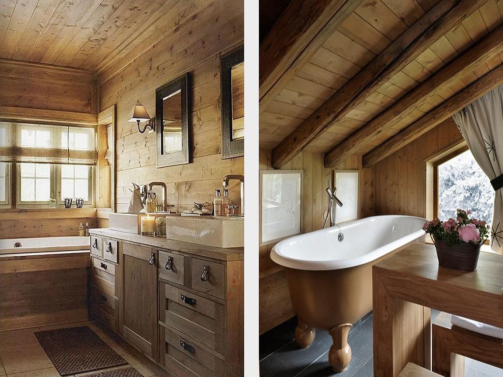 Ванная комната в деревянном стиле